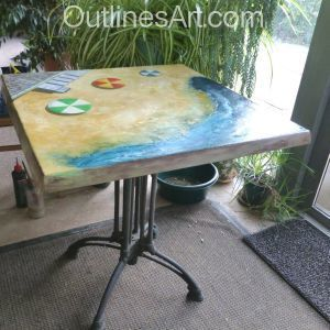 How I Revived a Worn Out Garden Table.