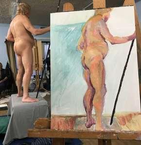 Life studio standing man