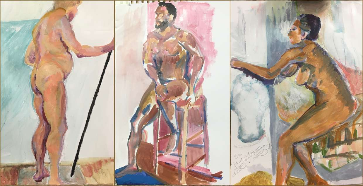 Three life paintings by Victoria Talbot Rice