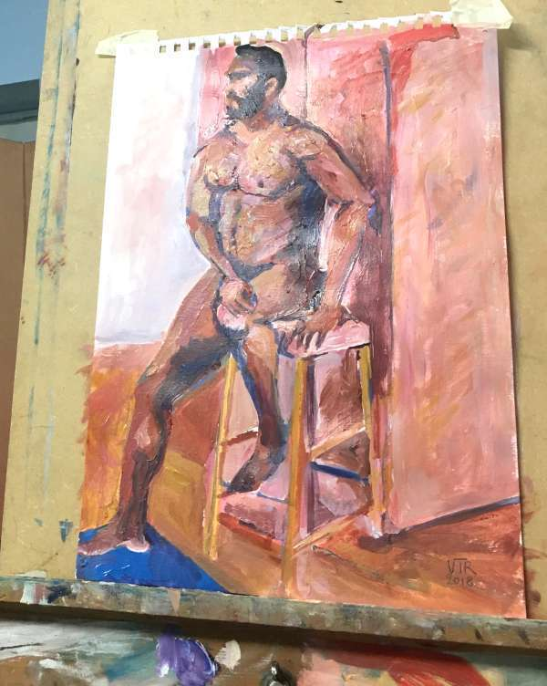 Completed Life painting in Acrylics