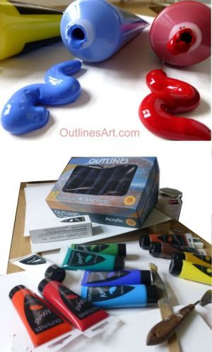 Outlines Acrylic Art Paints