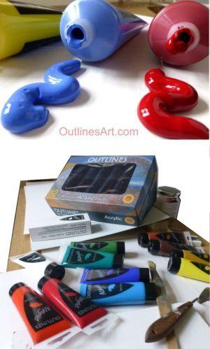 Outlines Acrylic Art Paints