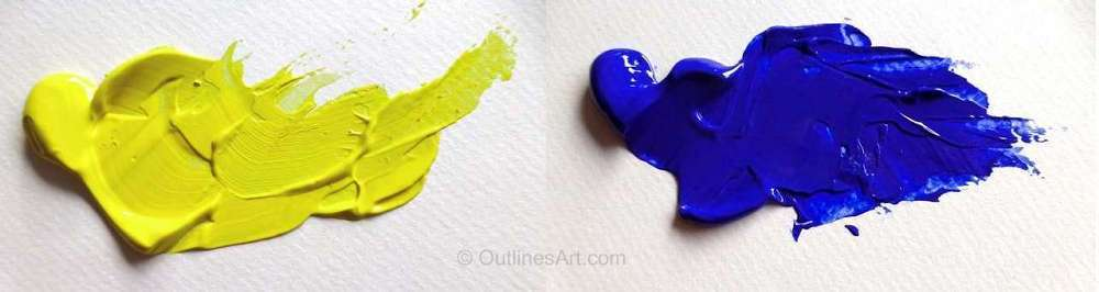 Lemon Yellow and Ultramarine Blue