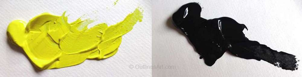 Lemon Yellow and Lamp Black