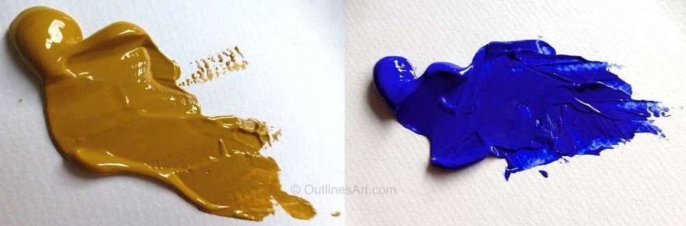 Yellow Ochre and Ultramarine Blue