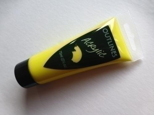 Lemon Yellow Acrylic paint 75ml tube
