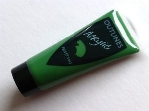 Sap Green Acrylic paint 75ml tube