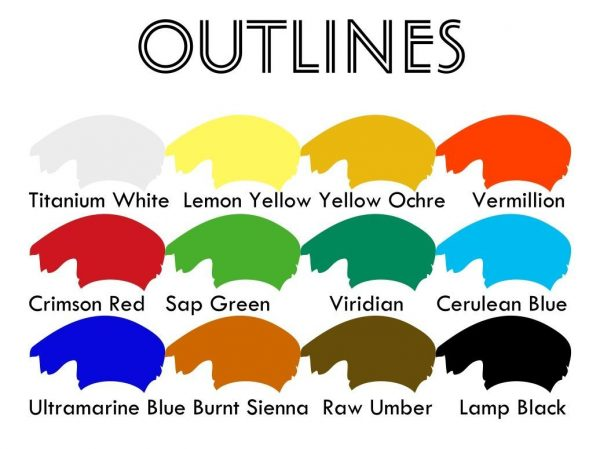 Simple colour chart