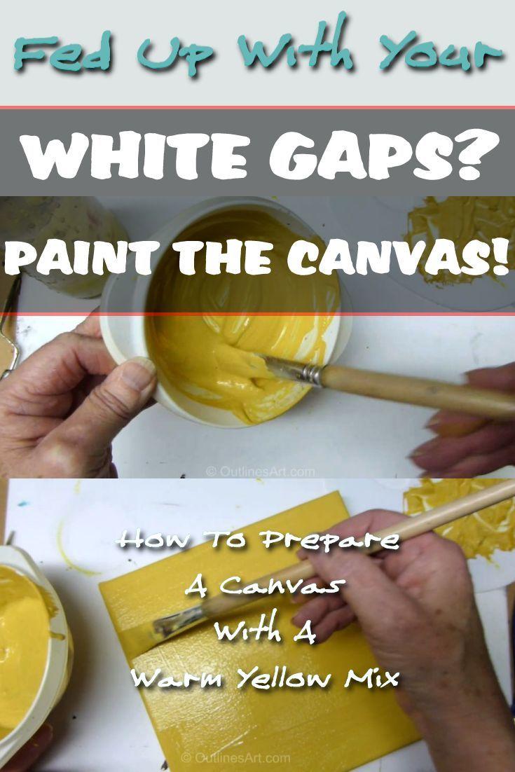 White Gaps Paint Canvas