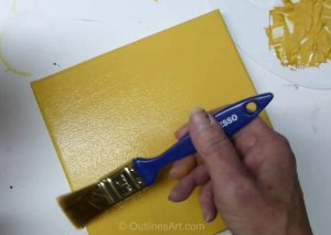 How to Prepare A Canvas With A Warm Yellow Mix