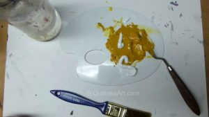 Paint mix and water