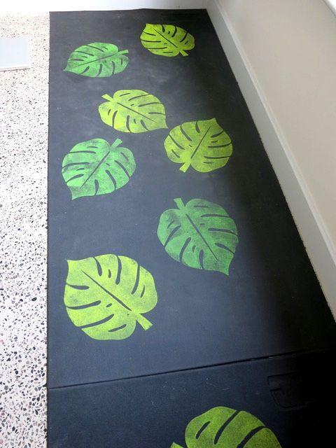 Leaf printed Yoga mat